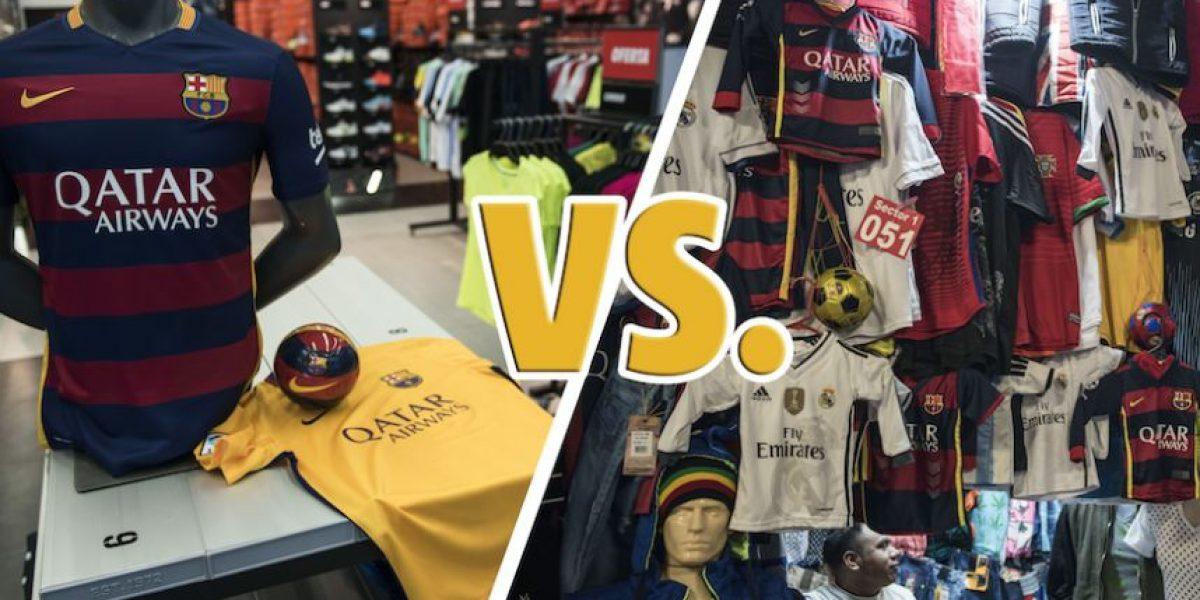 Original vs. imitación, la guerra de las camisetas del clásico español