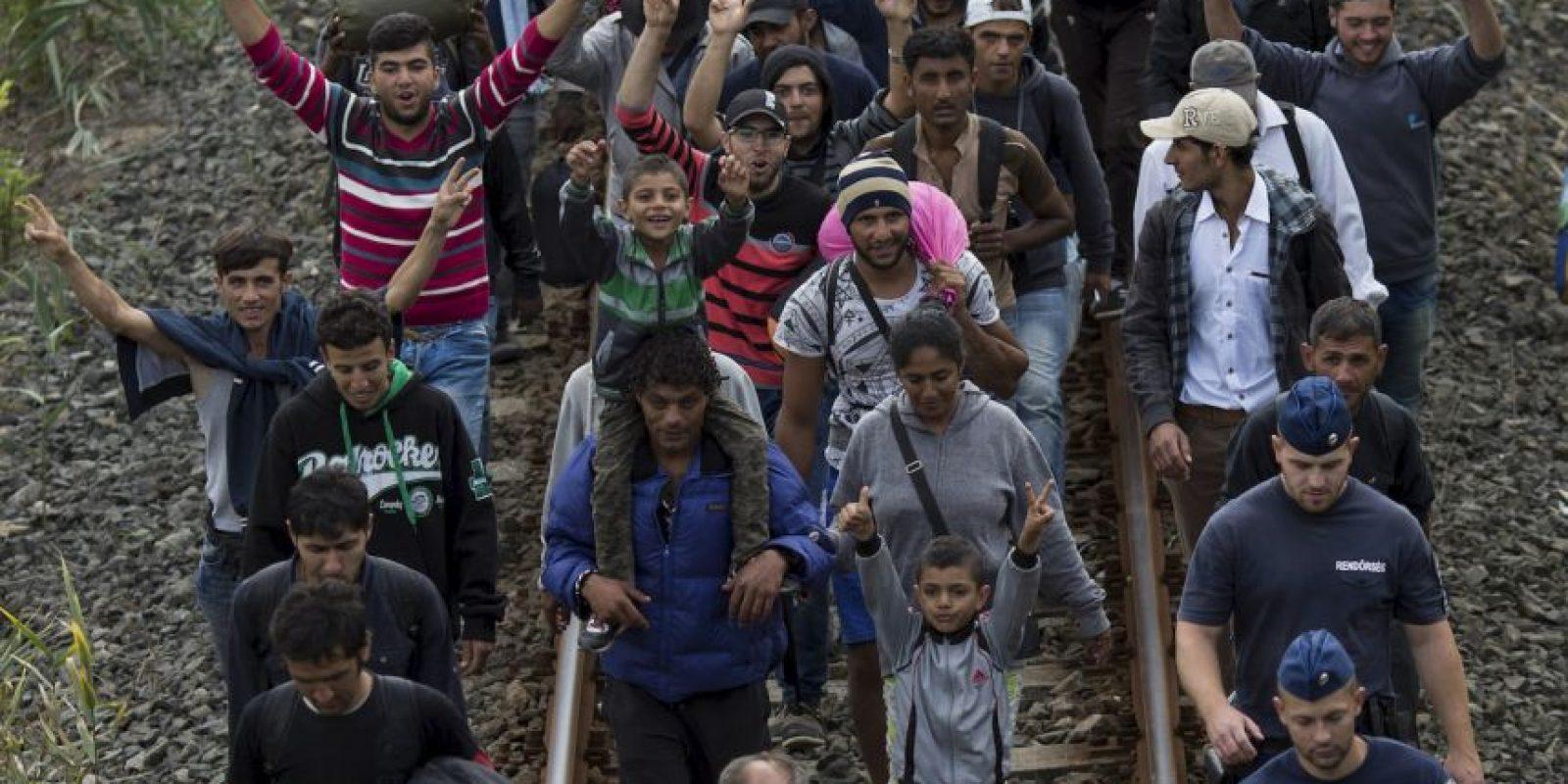"""8. """"No son las afluencias de refugiados las que causan el terrorismo, sino que son el terrorismo, la tiranía y la guerra las que crean refugiados"""", agregó el Alto Comisionado. Foto:Getty Images"""