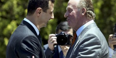 Con el Rey Juan Carlos de España, en 2004 Foto:Getty Images