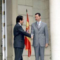 Con José María Aznar, presidente del gobierno español en 2001 Foto:Getty Images