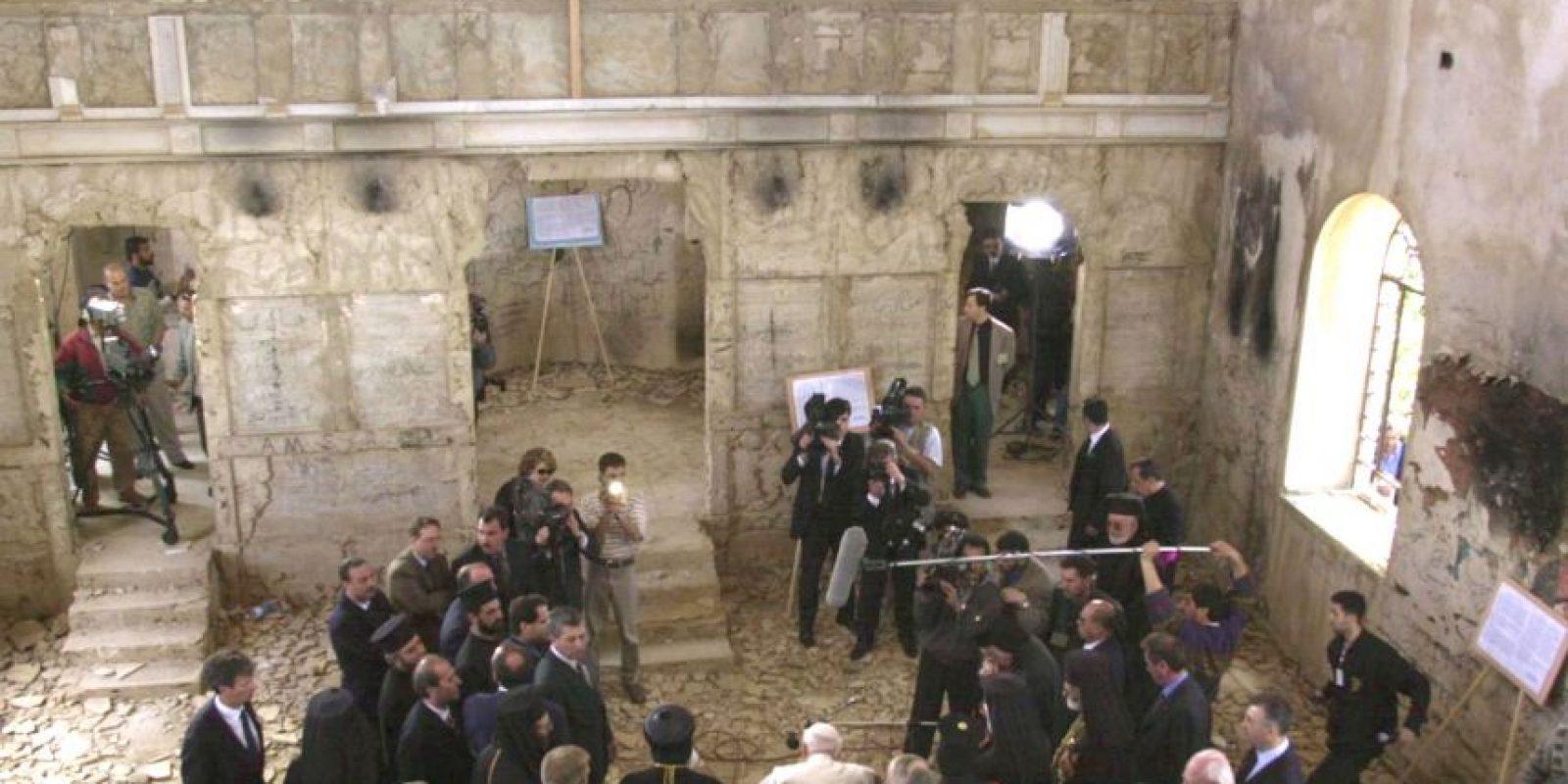 Visitó la iglesia de San Juan en el pueblo de Quneitra Foto:Getty Images