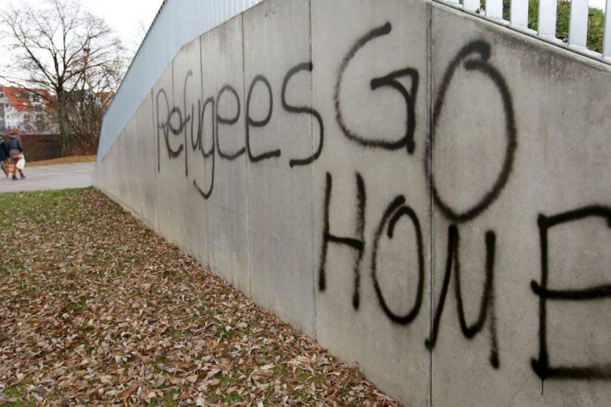 Mensaje en Alemania en contra de los refugiados. Foto:AFP