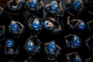 Protestas durante Foro de Cooperación Económica de Asia Pacífico (APEC). Foto:AFP