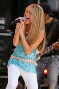 """La cantante saltó a la fama con la serie de Disney Channel, """"Hannah Montana"""". Foto:Getty Images"""
