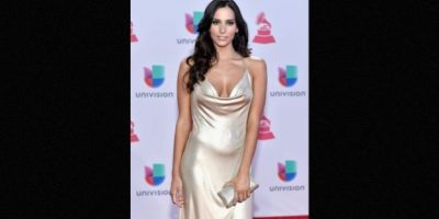 Génesis Rodríguez deslumbró con este escote dorado Foto:Getty Images