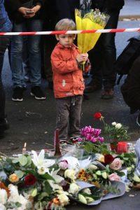 Muestras de solidaridad tras los atentados terroristas en París. Foto:Getty Images