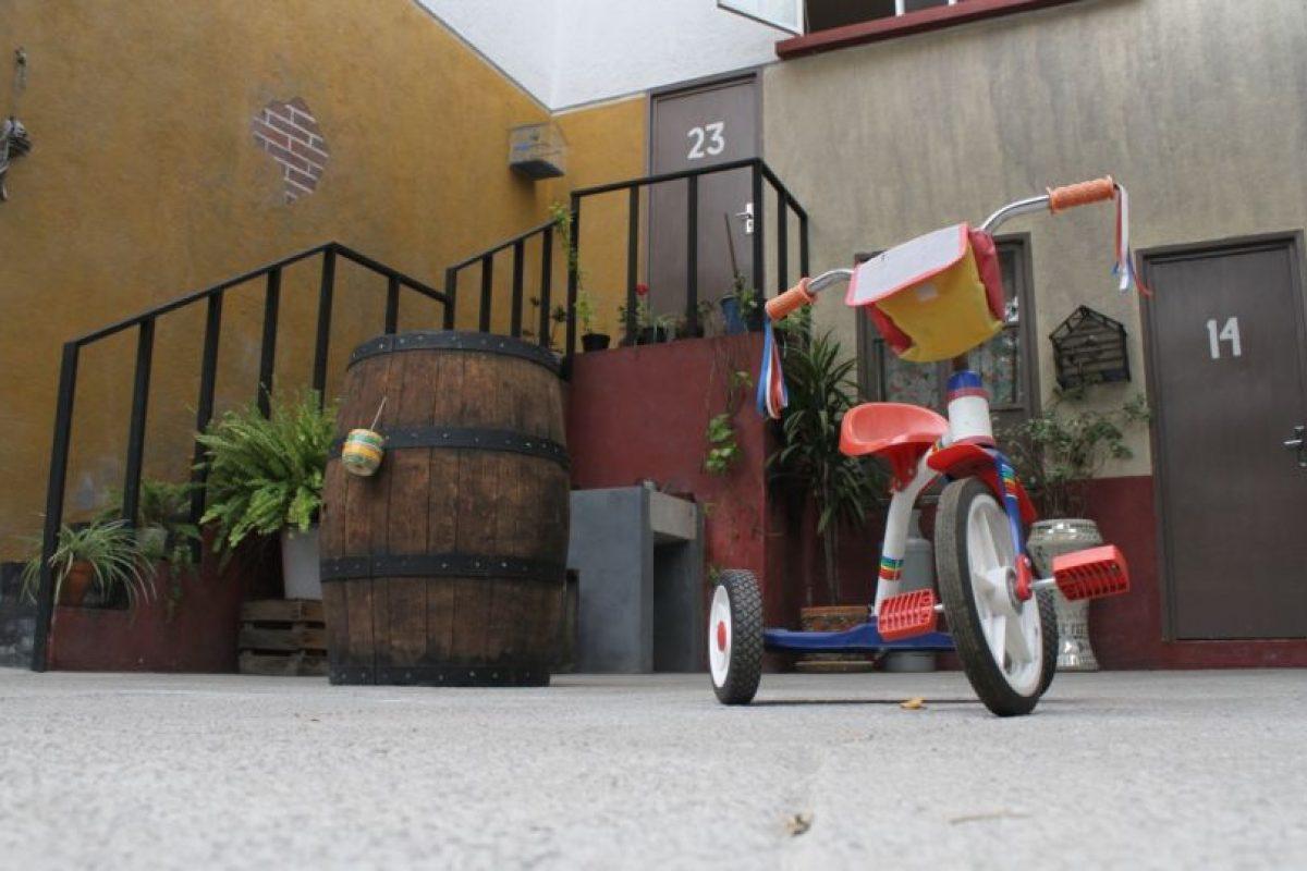 El popular patio. Foto:Nicolás Corte