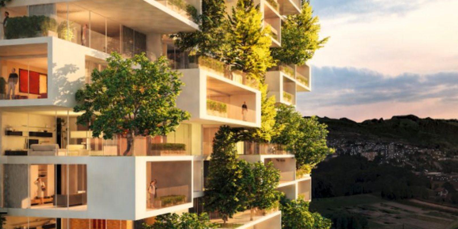 Así lucirán los futuros apartamentos de la torre Foto:Vía lescedres.chavannes.ch