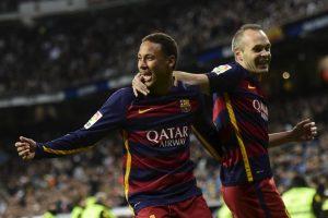 Neymar marcó al 39′ el segundo gol del Barcelona Foto:Getty Images