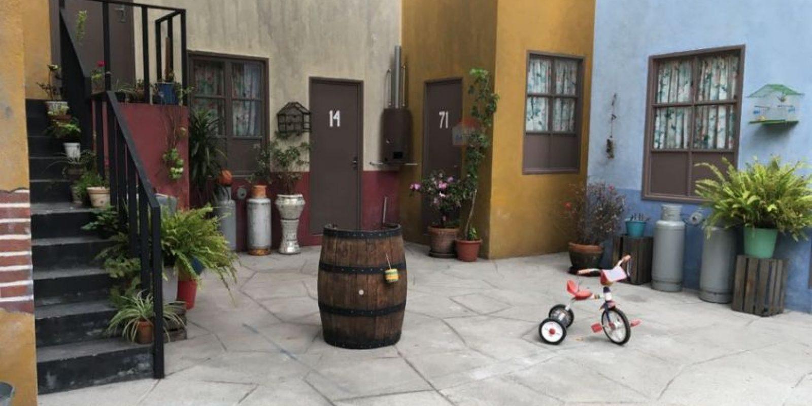 1- El patio de la vecindad. Foto:Nicolás Corte