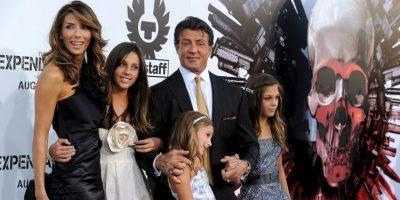 Sylvester Stallone acostumbra compartir sus logros con toda su familia. Foto:Getty Images