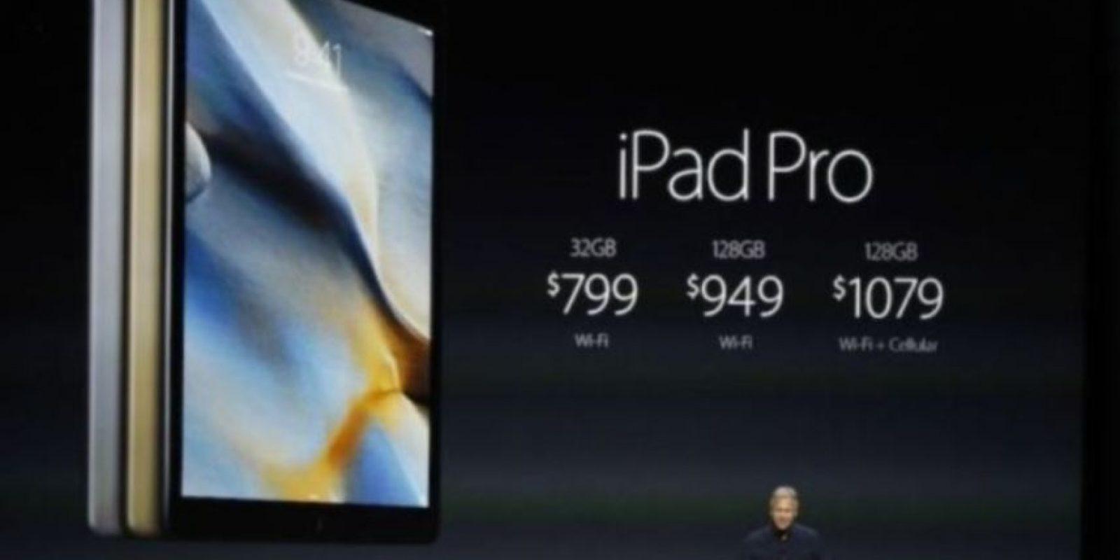 Precio: 799 dólares (32GB + Wi-Fi), 949 dólares (128GB + Wi-Fi) y mil 79 dólares (128GB + W-iFi). Foto:Getty Images
