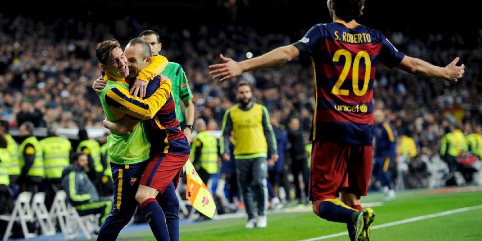 Iniesta marcó el tercer gol al minuto 53 Foto:Getty Images