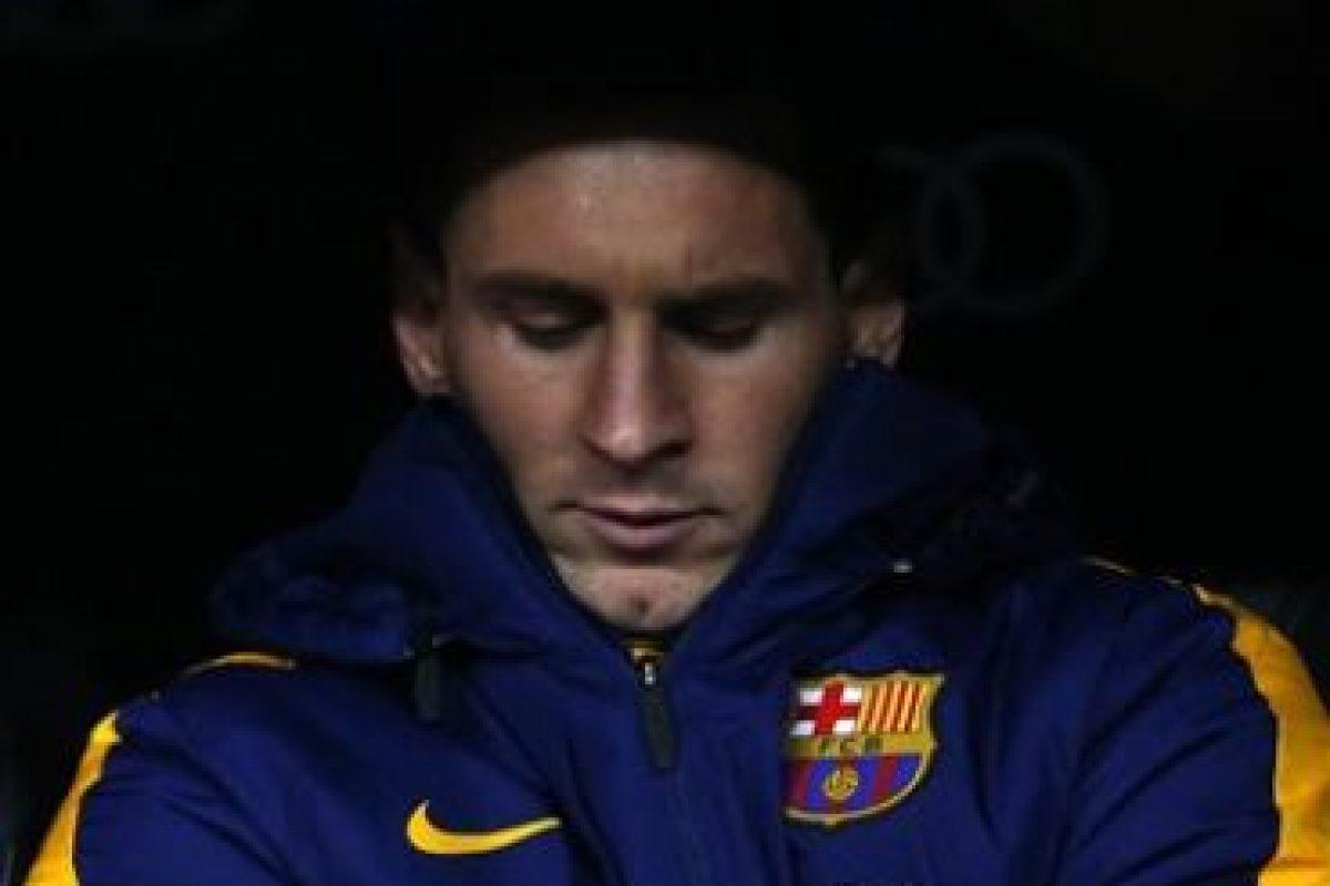 Lionel Messi comenzó el partido en la banca. Ingresó a los 57′ Foto:Getty Images