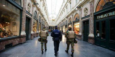 El miedo se apodero de la capital belga. Foto:AFP