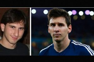 Igual a Lionel Messi Foto:Reddit/Getty