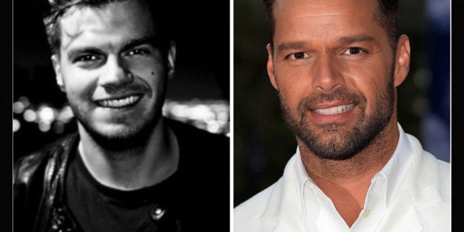 Igual a Ricky Martin Foto:Reddit/Getty