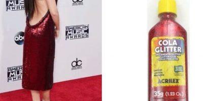 Selena gomez y el color de su vestido Foto:Vía Twitter