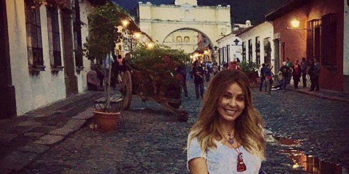 Myrka Dellanos se enamora de La Antigua en su visita a Guatemala