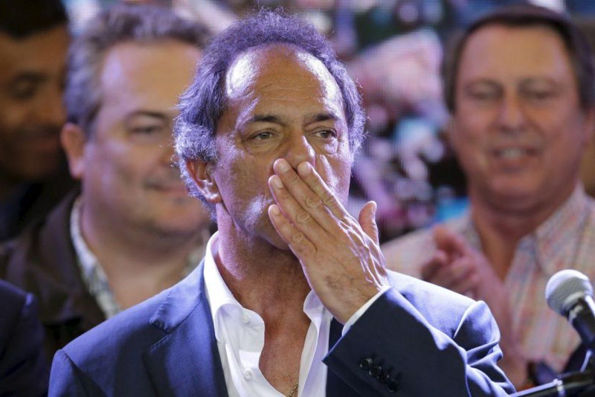Daniel Scioli, el candidato del kirchnerismo, perdió por menos de tres puntos porcentuales Foto:AP
