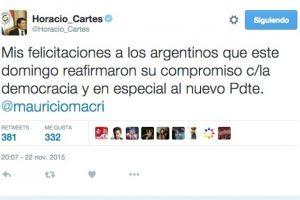 Horacio Cartes, presidente de la República del Paraguay, por el Partido Colorado. Foto:Twitter.com