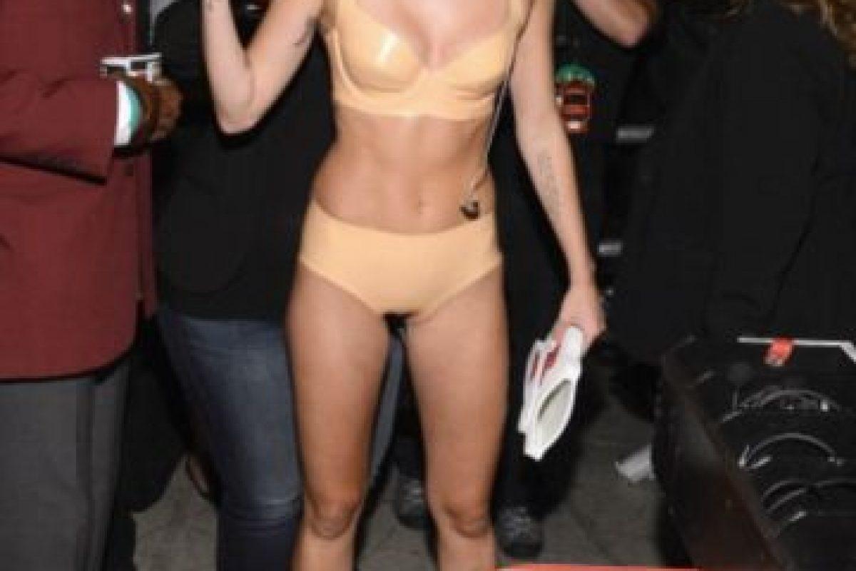 En agosto de 2013, apareció en los premios MTV VMA's con este atuendo. Foto:Getty Images