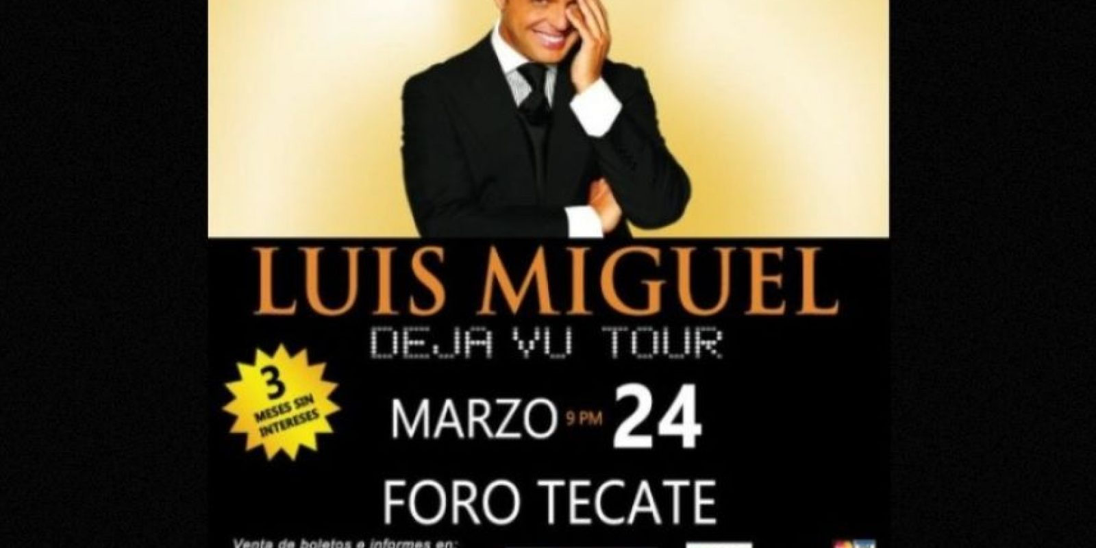 MARZO: Canceló su show en el Foro Tecate, esto después de que sus boletos no se vendieran como esperaba. Foto:Twitter