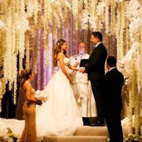 El vestido de la novia fue un diseño de Zuhair Murad Couture Foto:Instagram/sofiavergara