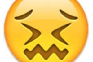 8- Parece que está a punto de llorar, pero solamente está aturdido. Foto:vía emojipedia.org