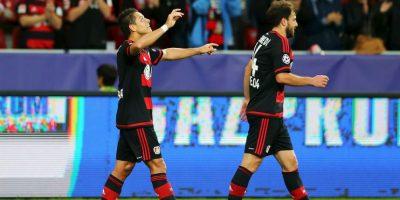 """5. Javier Hernández se presenta con el Bayer Leverkusen ante el Bate; el """"Chicharito"""" suma siete partidos anotando de forma consecutiva Foto:Getty Images"""