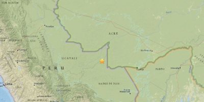 El Servicio Geológico de Estados Unidos (USGS) señaló que se trató de un temblor de 7.5 grados en escala Richter Foto:Vía Twitter