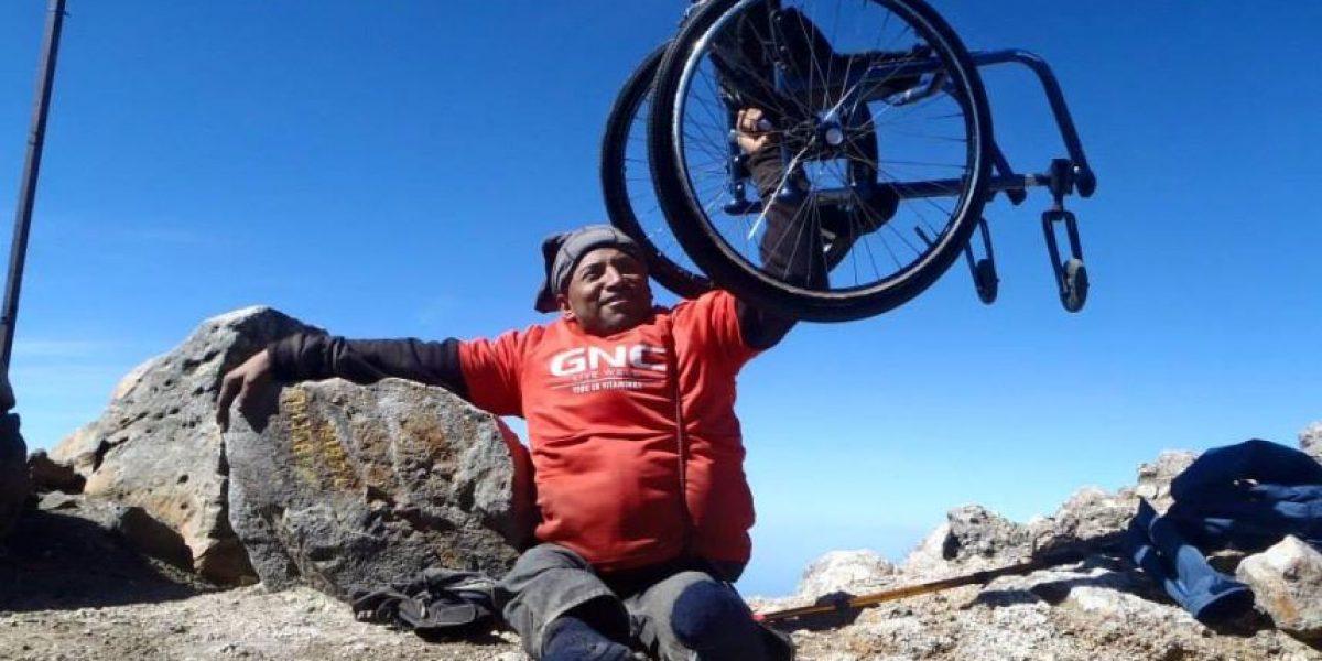 Atleta nacional no puede caminar pero escalará el Tacaná