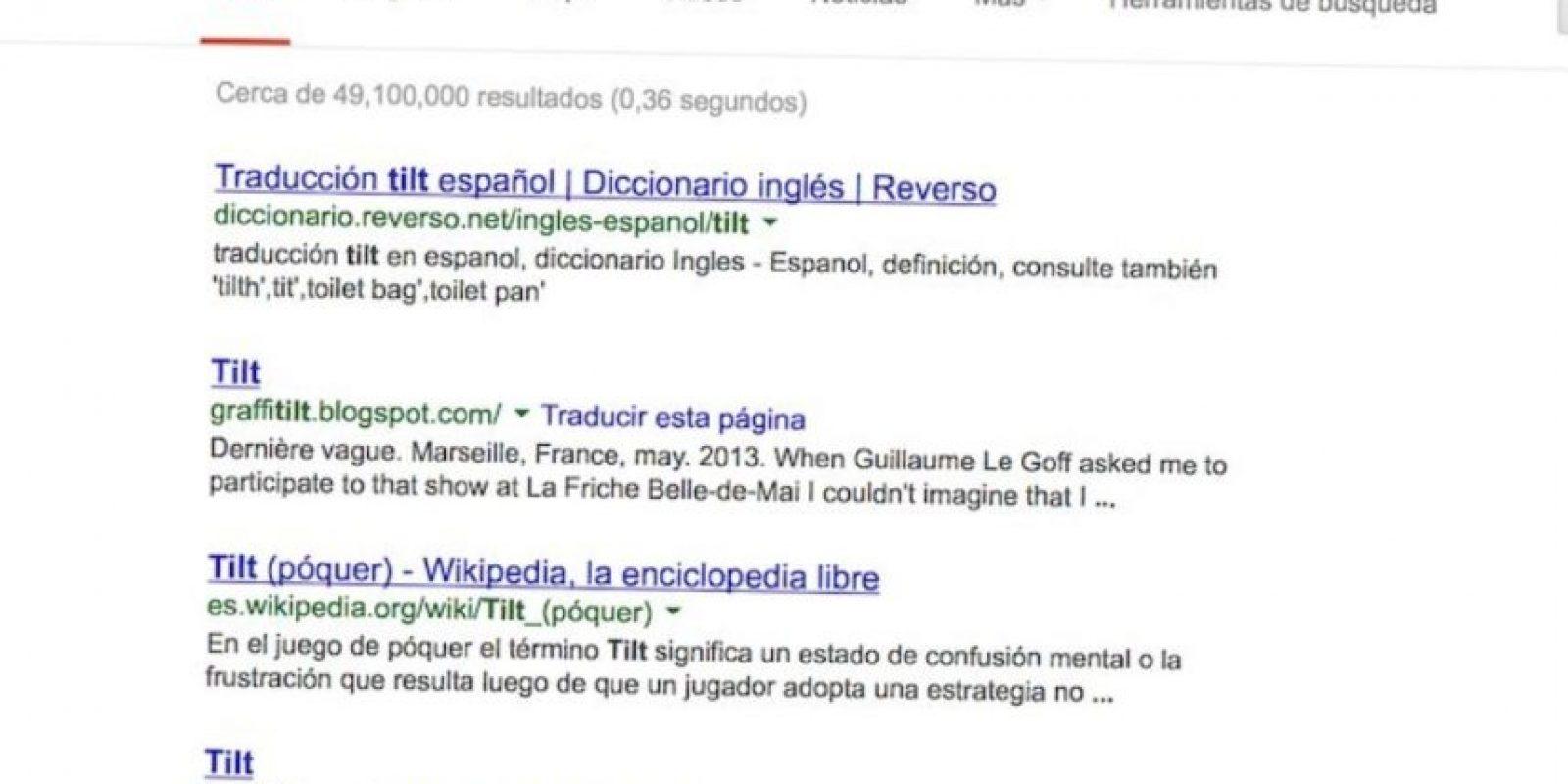 """4- Google puede perder la coodinación. En la barra de búsqueda pueden probar con """"Tilt"""", """"Do a barrel roll"""" y con """"Askew"""". No se asusten, no pasan nada malo. Foto:Google"""
