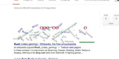 """6- ¿Tienen tiempo para un juego? En Google ingresen """"Zerg rush"""" y diviértanse evitando que los Zergs destruyan las líneas de búsqueda. Foto:Google"""