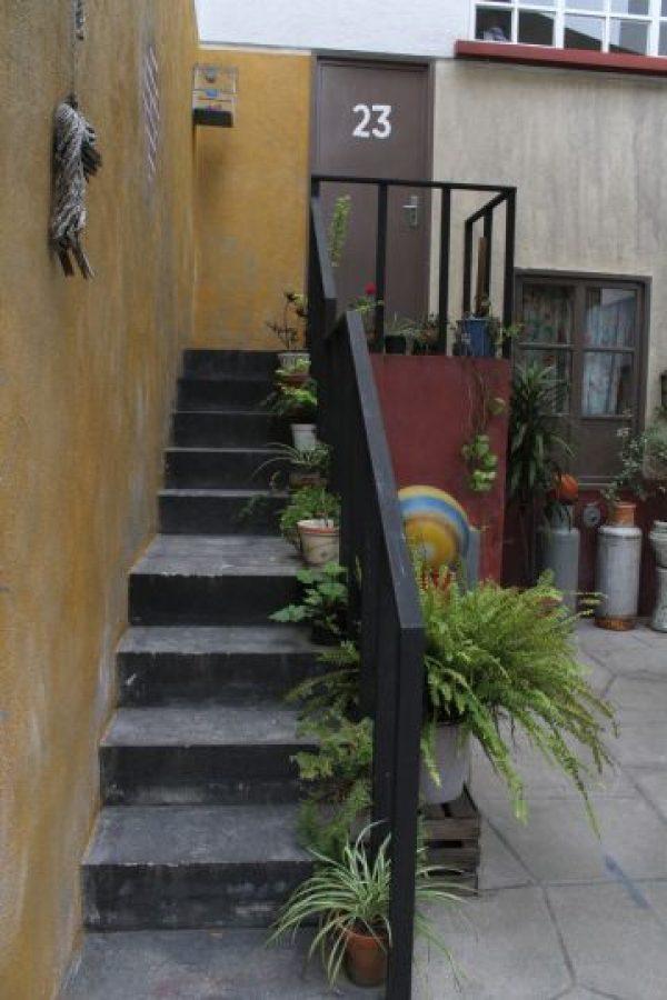 Las escaleras al número 23. Foto:Nicolás Corte