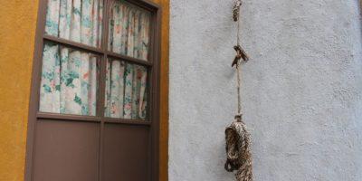 Los tendederos para colgar la ropa. Foto:Nicolás Corte