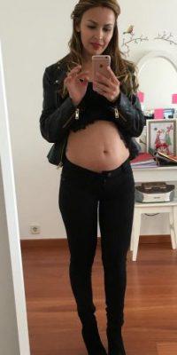 Presumió el avance de cuatro meses y medio de su embarazo Foto:Vía instagram.com/carlapardolizana