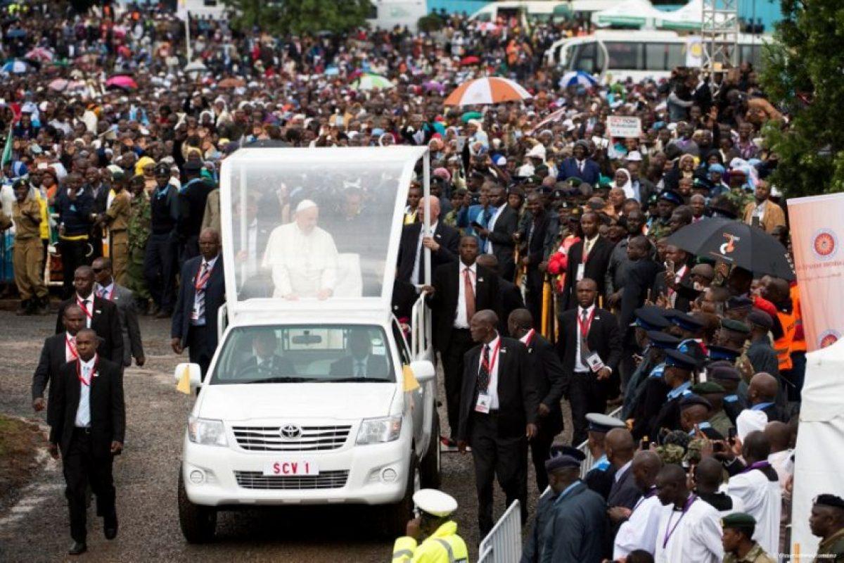 Los países que visitará a continuación son Uganda y República Central Africana. Foto:AFP