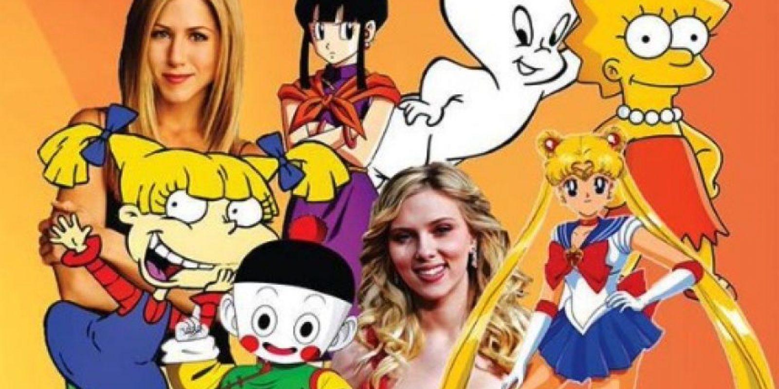 """Y de otros personajes como """"Lisa"""" de """"Los Simpson"""", """"Rachel"""" de """"Friends"""" y del doblaje latino de Scarlett Johansson. Foto:vía facebook.com/patyacevedo29"""