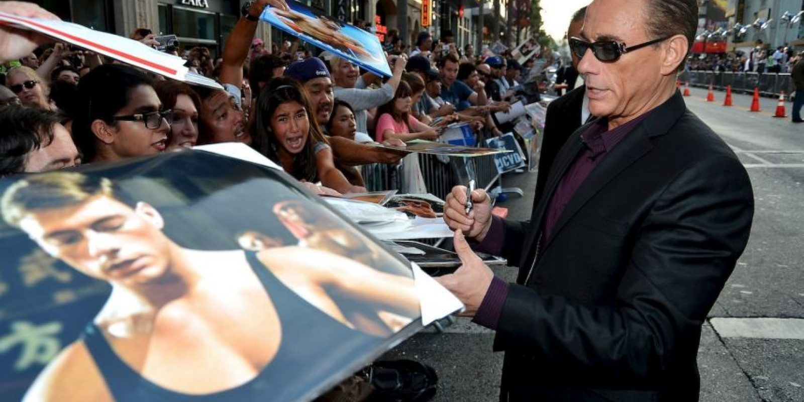 Jean-Claude Van Damme, el ídolo del cine de acción ahora tiene 55 años. Foto:Getty Images
