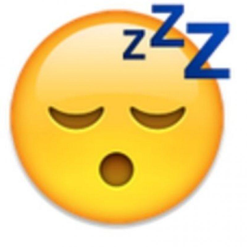 Rostro con cara de sueño. Foto:vía emojipedia.org