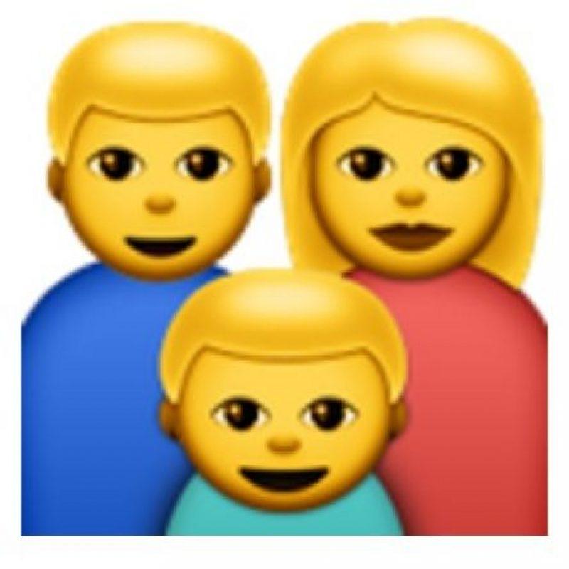 La familia de tres personas. Foto:vía emojipedia.org