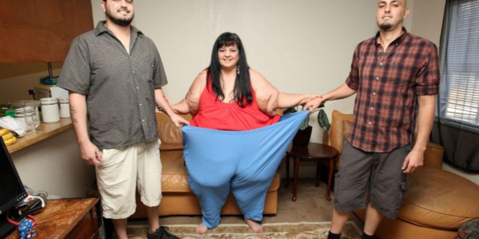 Ahora pesa 215 kilos. Foto:vía Barcroft Media