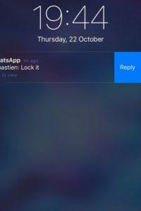 3- Responder desde las notificaciones en el iPhone sin necesidad de entrar en la app. Foto:WhatsApp