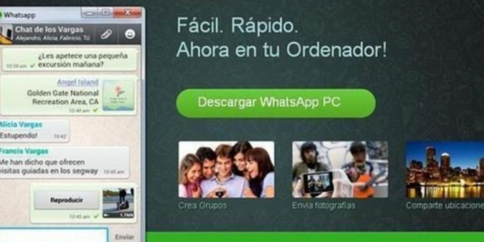 4- WhatsApp para PC. Foto:vía Tumblr.com