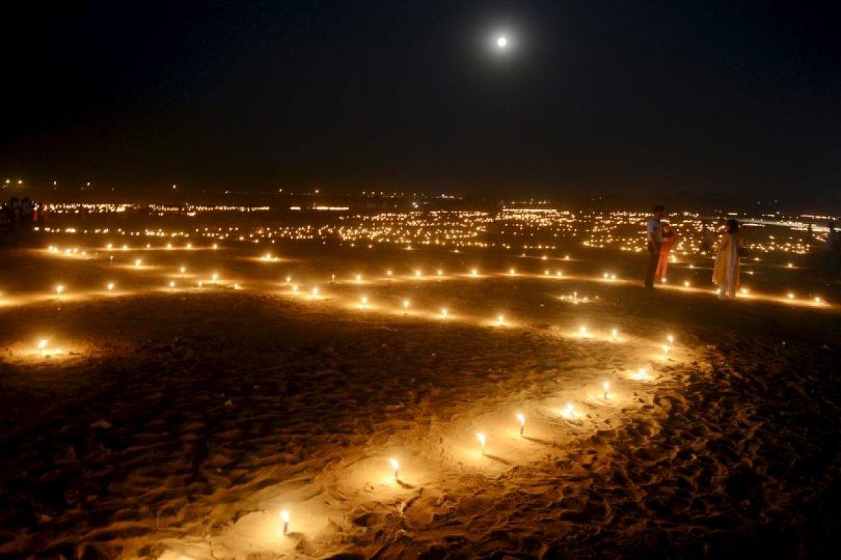 Festival en India. Foto:AFP