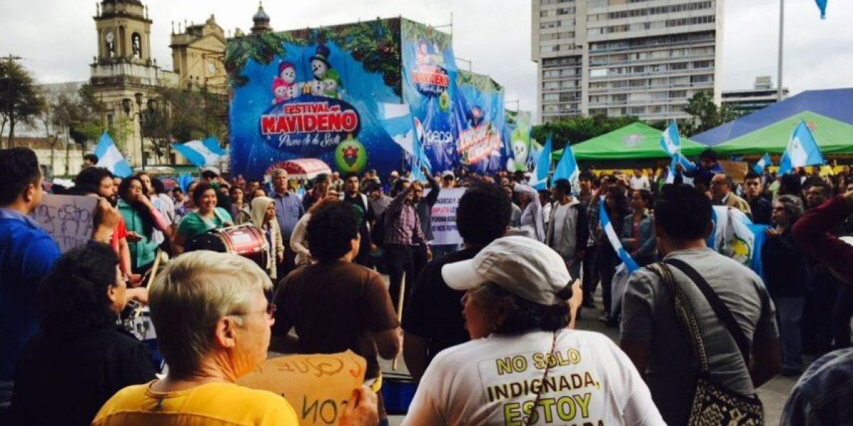 #28N Guatemaltecos realizan manifestación en Centro Histórico con varias peticiones