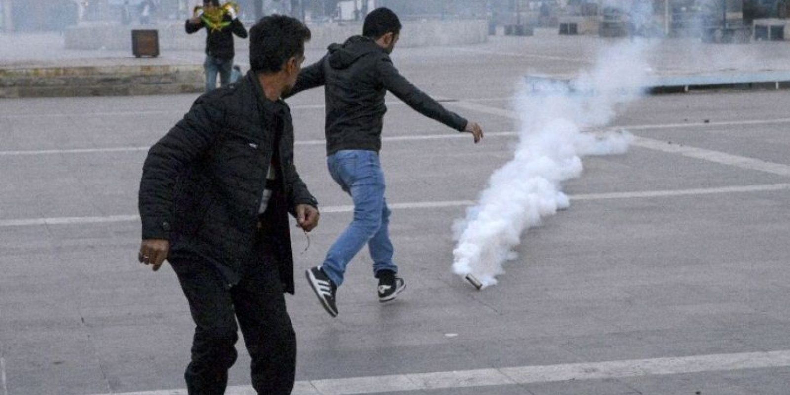 Las protestas terminaron en enfrentamientos con la policía Foto:AFP