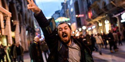 Las protestas terminaron en enfrentamientos con la policía Foto: AFP