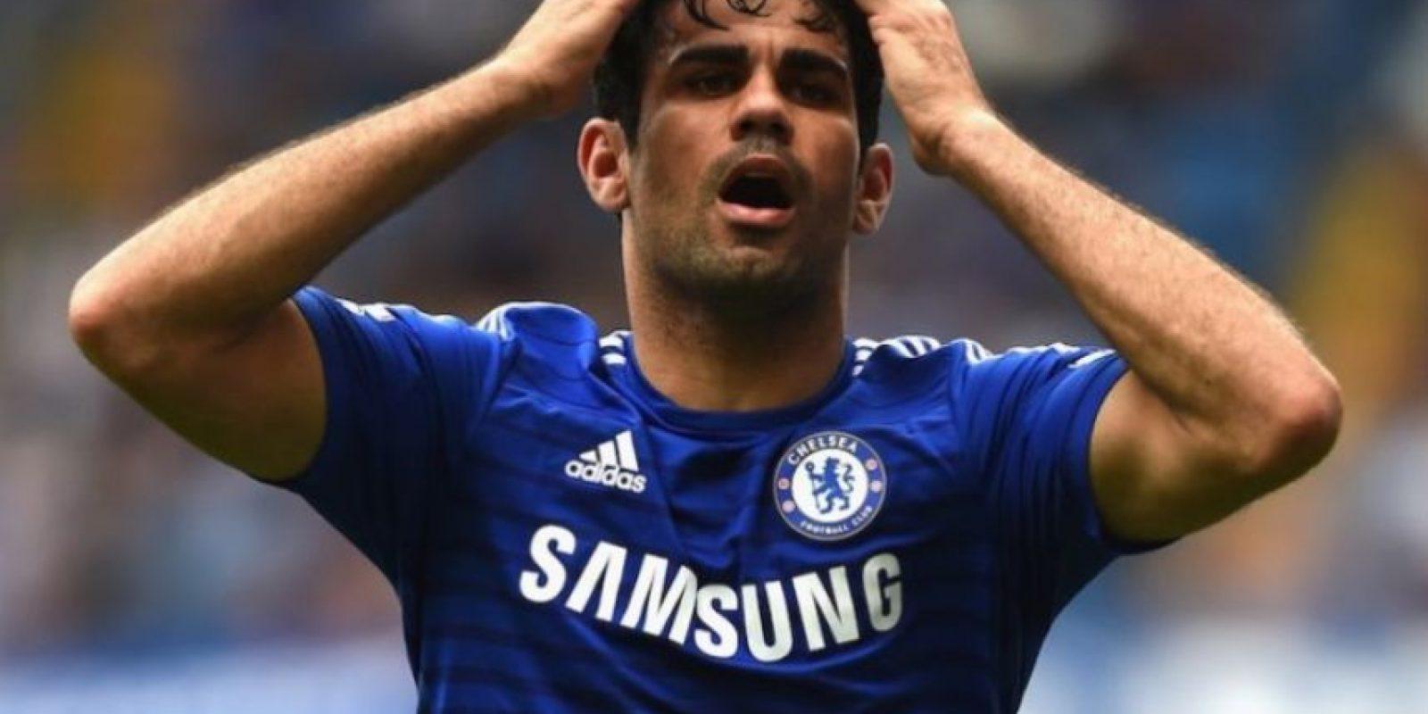 Costa se quedó en la banca durante el encuentro de este domingo. Foto:Getty Images